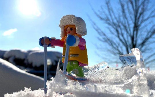 Schlitten und Ski